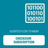 Alientech - ECM Titanium -  Checksum Subscription (18C7570009)