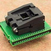 DIL44/PLCC44 ZIF-CS programming adapter