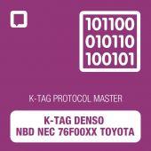 K-TAG Denso NBD NEC 76F00xx Toyota protocol MASTER