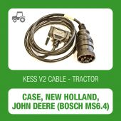 Kessv2 Case - New Holland - John Deere 9Pin OBD cable for Bosch MS6.4 ECU - 144300K226 - t