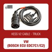 VW Truck 9 pin diagnostic connector cable for Bosch ECU EDC7C1/C2 - 144300K235 - t