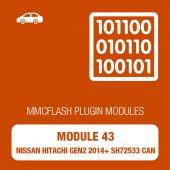 MMC Flash - 43 Module - Nissan Hitachi GEN2 2014+ SH72533 CAN (mmcflash_module43)