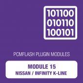 PCM Flash - Module 15 - Nissan/Infinity K-Line (pcmflash_module15)